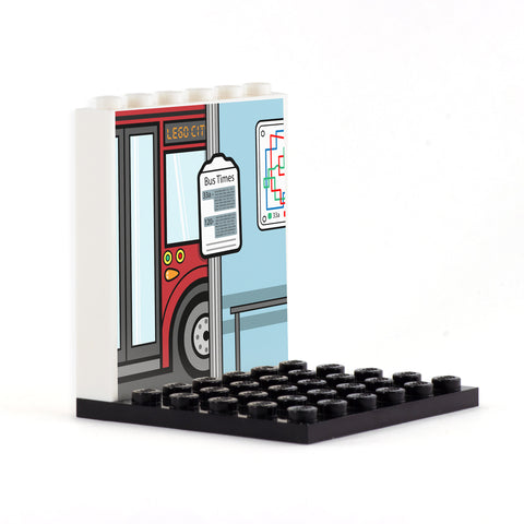 Bus Stop Back Panel- Custom Design Display Panel and Stand
