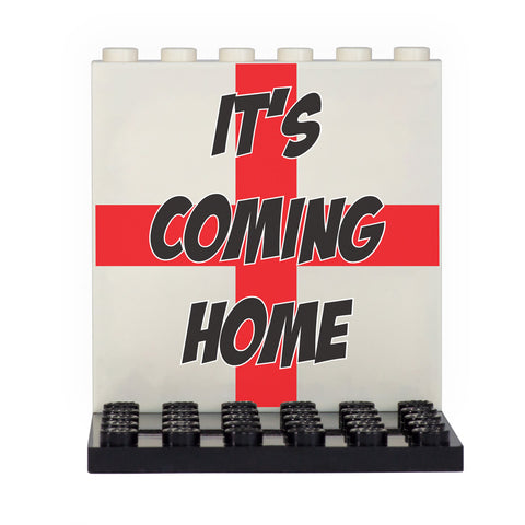 England Football Celebration 'It's Coming Home' Back Panel- Custom Design Display Panel and Stand