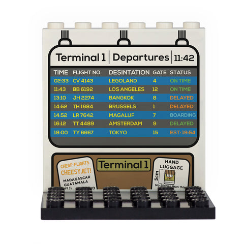 Departure Board Back Panel- Custom Design Display Panel and Stand