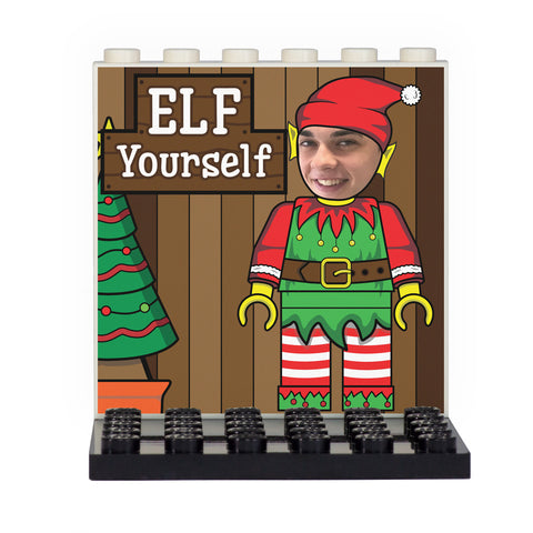 Elf Yourself Christmas Back Panel- Custom Design Display Panel and Stand