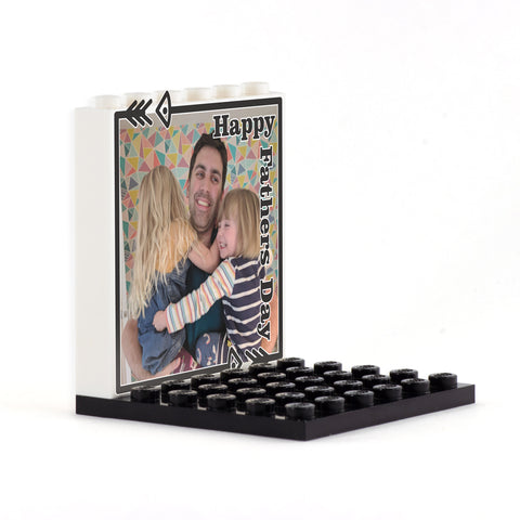 Your Image 'Happy Father's Day' Back Panel- Custom Design Display Panel and Stand
