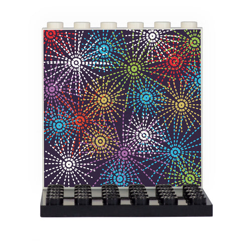 Fireworks Back Panel- Custom Design Display Panel and Stand