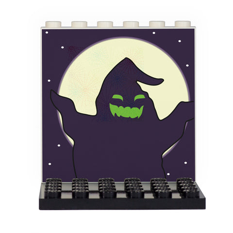 Halloween Themed Ghost and Moon Back Panel- Custom Design Display Panel and Stand