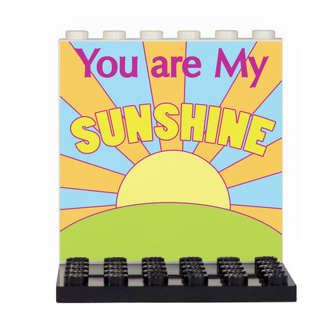 You Are My Sunshine Back Panel- Custom Design Display Panel and Stand