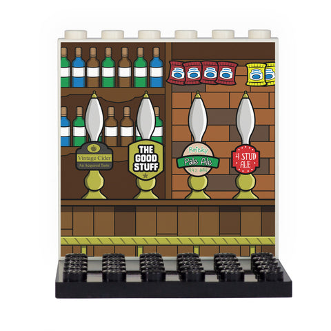 Pub Back Panel- Custom Design Display Panel and Stand