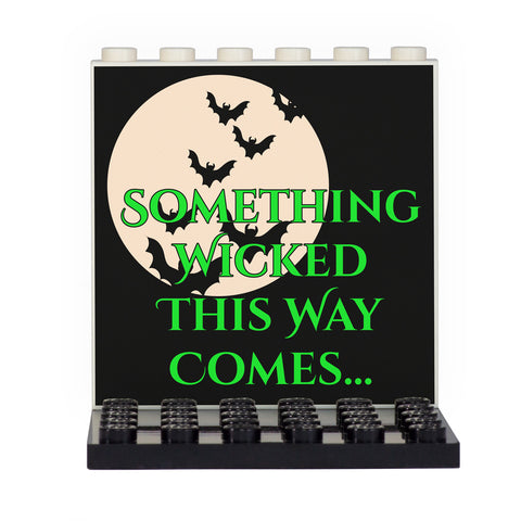 Something Wicked This Way Comes Back Panel- Custom Design Display Panel and Stand