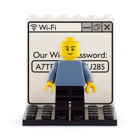Wifi Password Back Panel- Custom Design Display Panel and Stand