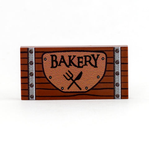 Custom printed Old-fashioned Bakery Sign (LEGO tile)