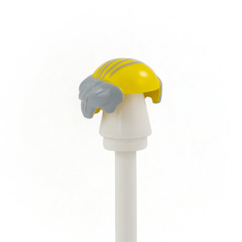 Bald Top with Light Grey Combover - LEGO Minifigure Hair