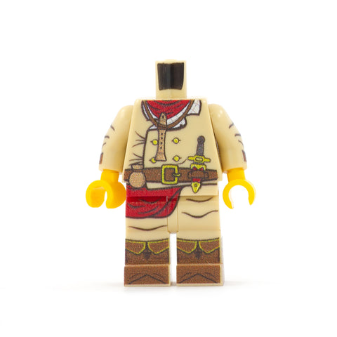 Bard Outfit (Regular Legs, Various Colours Available) - Custom Design Minifigure Legs and Torso