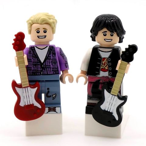 Bill and Ted Custom LEGO Minifigure Set