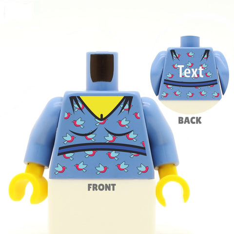 Bird Print Top (Various Colours) - Custom Designed LEGO Minifigure Torso
