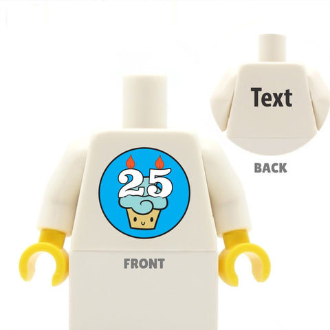 Customisable Birthday Cake top (any age) - Custom LEGO Torso