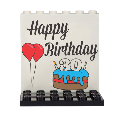 Personalised LEGO Happy Birthday Back Panel- Custom Design Display Panel and Stand