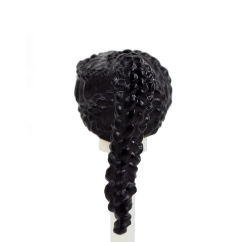 Black Braided Ponytail - LEGO Minifigure Hair