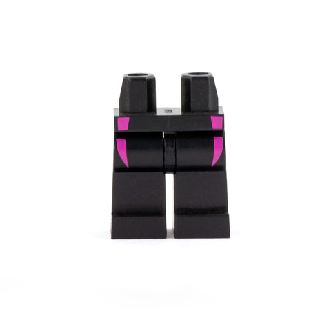 Black Legs with Pink Detail -  LEGO Minifigure Legs