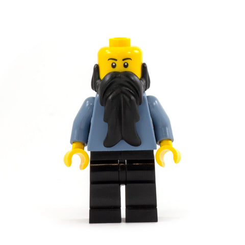 Long Black LEGO Minifigure Beard