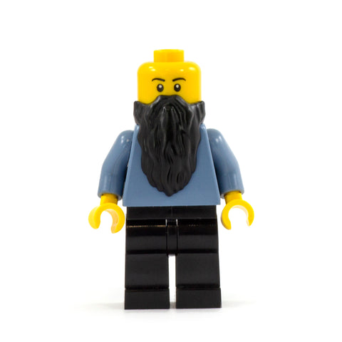 Long Black Shaggy LEGO Minifigure Beard