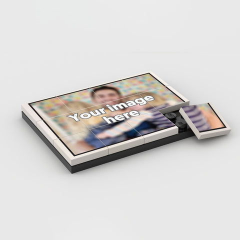YOUR IMAGE with Black Border Personalised Puzzle
