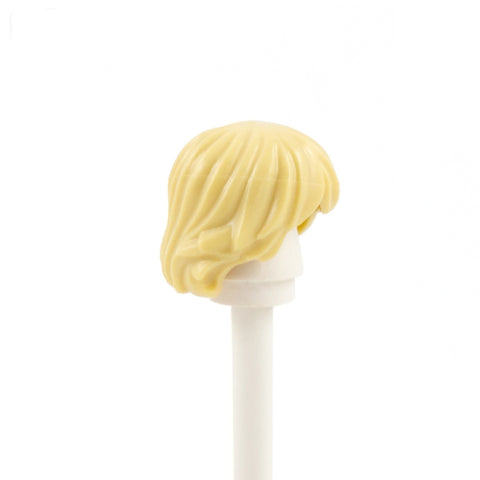 Blonde Short Shaggy with Parted Fringe - LEGO Minifigure Hair