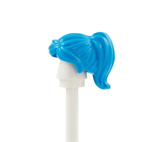 Blue Ponytail with Swept Fringe - LEGO Minifigure Hair