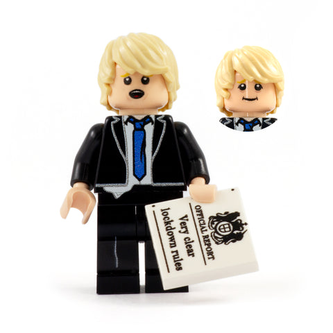 Boris Johnson, UK Prime Minister - Custom Design LEGO Minifigure