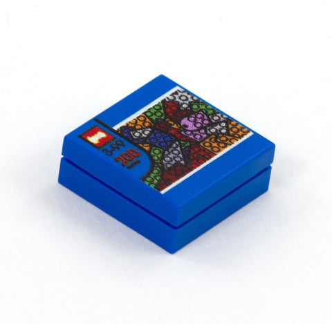 Box of Blocks - Custom Design Tile on top of 2 x 2 Plate