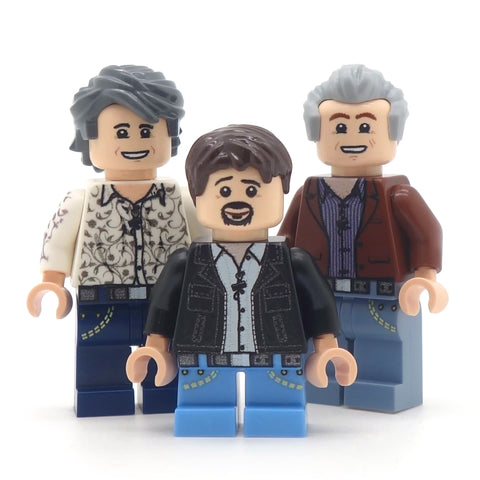 Top Gear - Richard Hammond, James May and Jeremey Clarkson - Custom Design LEGO Minifigures