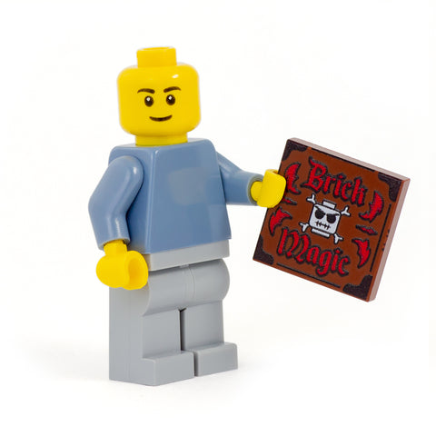 Brick Magic Spell Book - Custom Design LEGO Tile