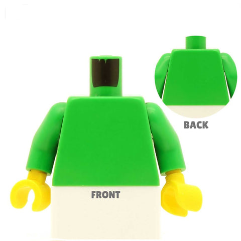 Hiker Top (Various Colours) - Custom Design Minifigure Torso