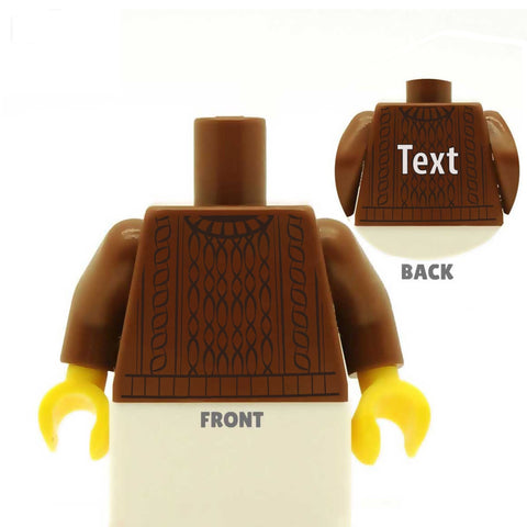 Cable Knit Jumper (Various Colours) - Custom Design Minifigure Torso