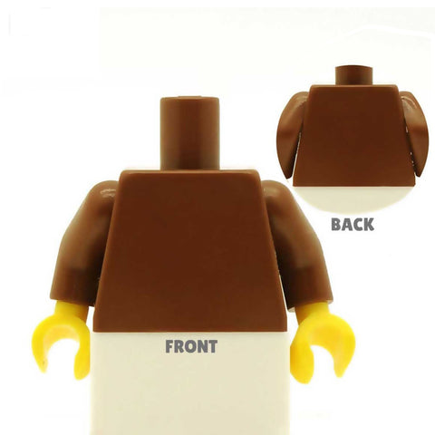 Steampunk Low Cut Blouse (Various Colours) with Leather Corset - Custom Design Minifigure Torso