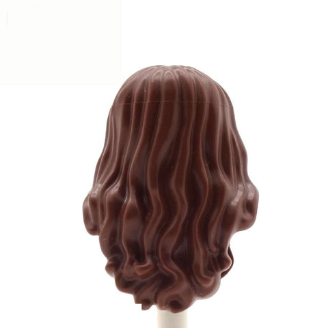 Brown Long Curly Over the Shoulder - LEGO Minifigure Hair