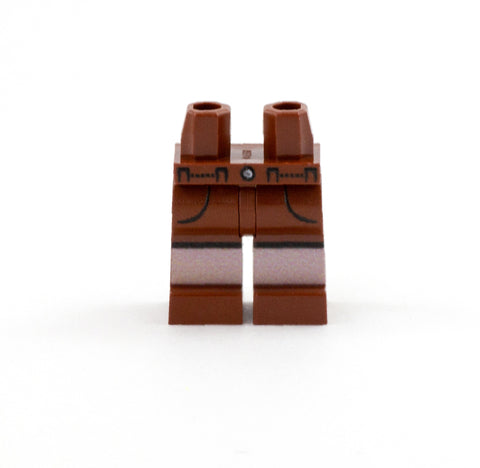 Brown Shorts with Pockets - Custom Printed LEGO Minifigure Legs