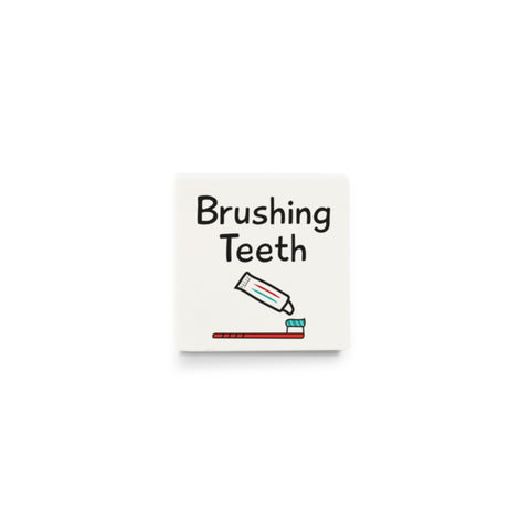 Brushing Teeth (Activity Tile for Visual Timetable) - CUSTOM DESIGN LEGO TILE