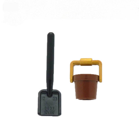 LEGO Brown Bucket and Spade - Minifigure Accessories