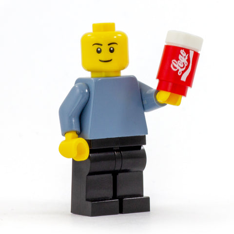 LEGO Can of Cola - Custom Design Brick and 1 x 1 Round Tile
