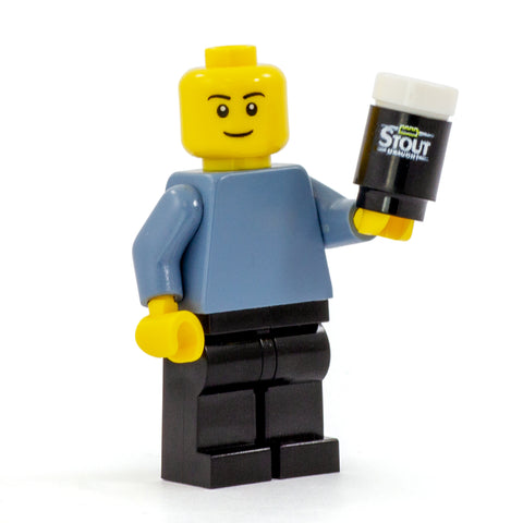LEGo Guinness, can of stout - Custom Design Round Brick and Tile