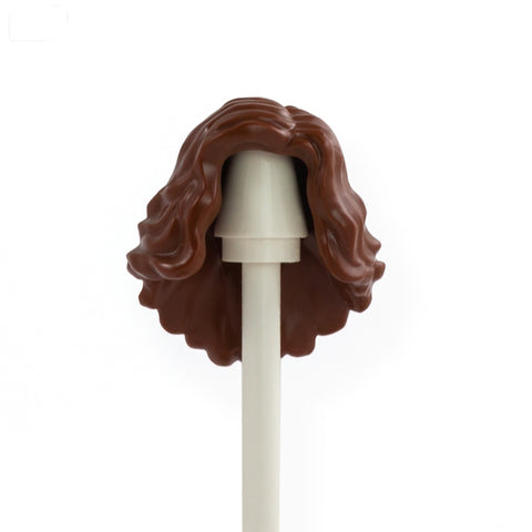 Brown Long Cascading, Curly, Wavy - LEGO Minifigure Hair