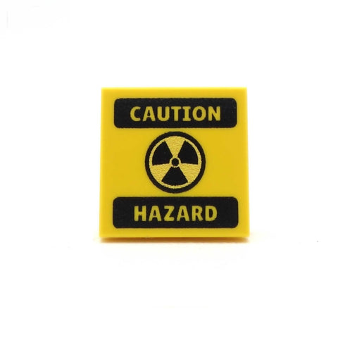 Caution Hazard - Custom Printed LEGO Tiles and LEGO Accessories
