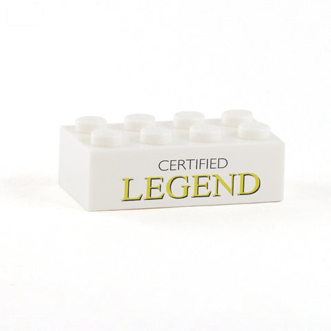 Certified Legend Display Brick - Custom Printed 2 x 4 Brick
