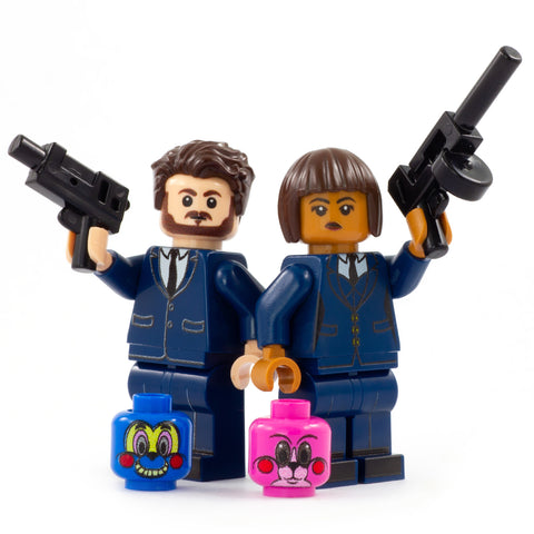 LEGO Hazel and ChaCha, The Assassins, Umbrella Academy - Custom Printed Minifigures