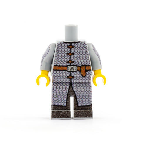 Fighter in Chainmail (Regular Legs) - Custom Design LEGO Minifigure Legs and Torso