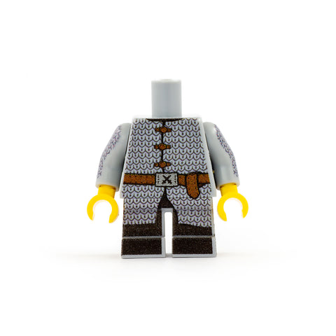 Fighter Outfit with Chain Mail (Short Legs) - Custom Design LEGO Minifigure Legs and TorsoFighter Outfit with Chain Mail (Short Legs) - Custom Design LEGO Minifigure Legs and Torso
