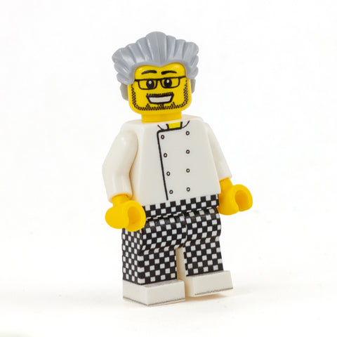Chef Check Trousers (various colours) - Custom Printed Minifigure Legs