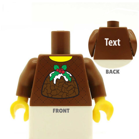 Christmas Pudding Jumper - Custom Printed LEGO Torso