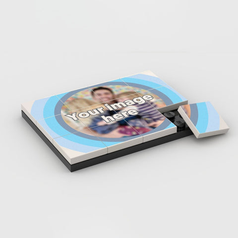 YOUR IMAGE in a Circle Template Personalised Puzzle