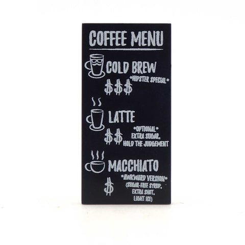 Coffee Menu - Custom Printed LEGO Tile