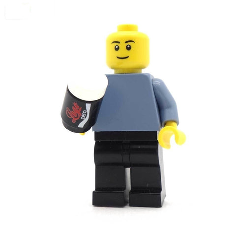 Minifig Holding Can of LEGO Coke Zero
