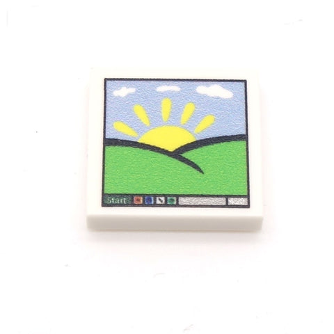 Windows Computer Screen Custom LEGO Tile